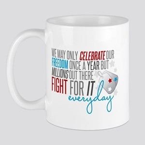 Fights for It Mug