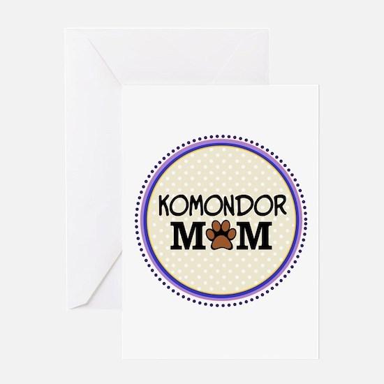 Komondor Dog Mom Greeting Cards
