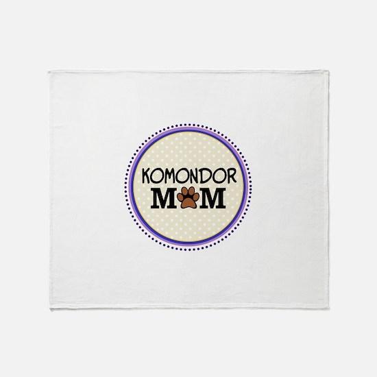 Komondor Dog Mom Throw Blanket