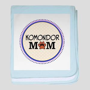 Komondor Dog Mom baby blanket