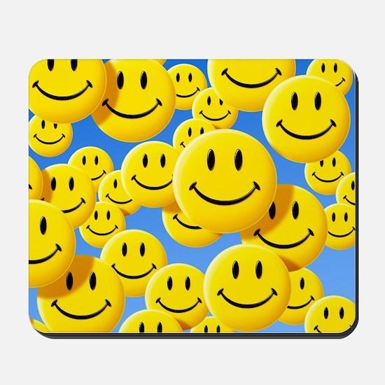 Smiley face symbols Mousepad