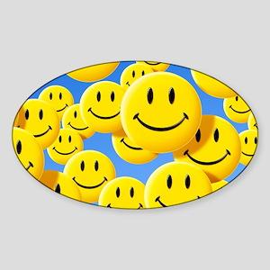 Smiley face symbols Sticker (Oval)