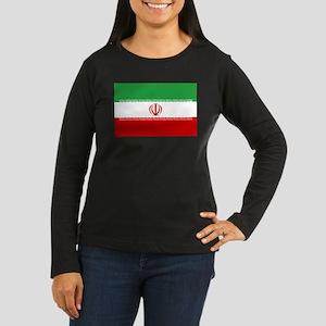 Iran Flag Women's Long Sleeve Dark T-Shirt