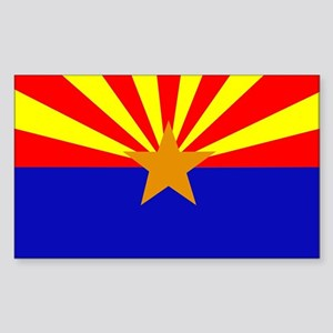 Arizona Flag Rectangle Sticker