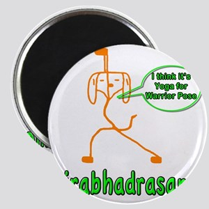 Yoga Warrior Pose Magnet