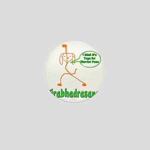 Yoga Warrior Pose Mini Button