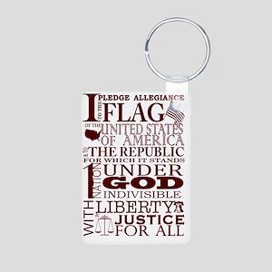 PatrioticPledgeofAllegianc Aluminum Photo Keychain