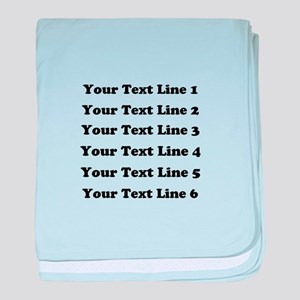 Customize Six Lines Text baby blanket