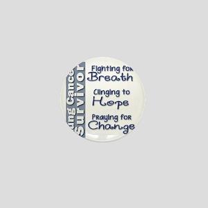 Breathe-Hope-Change Lung Cancer Surviv Mini Button