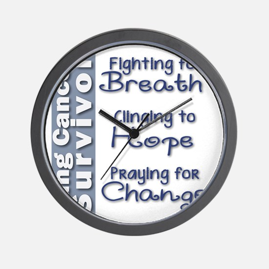 Breathe-Hope-Change Lung Cancer Survivo Wall Clock