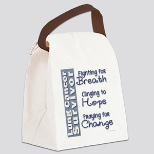Breathe-Hope-Change Lung Cancer S Canvas Lunch Bag