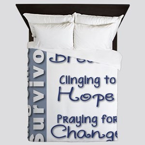 Breathe-Hope-Change Lung Cancer Surviv Queen Duvet