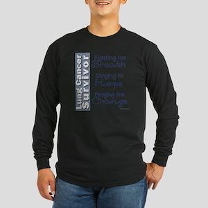 Breathe-Hope-Change Lung  Long Sleeve Dark T-Shirt