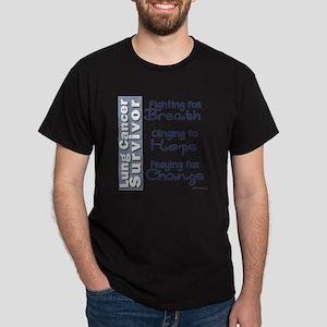 Breathe-Hope-Change Lung Cancer Survi Dark T-Shirt