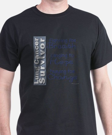 Breathe-Hope-Change Lung Cancer Survi T-Shirt