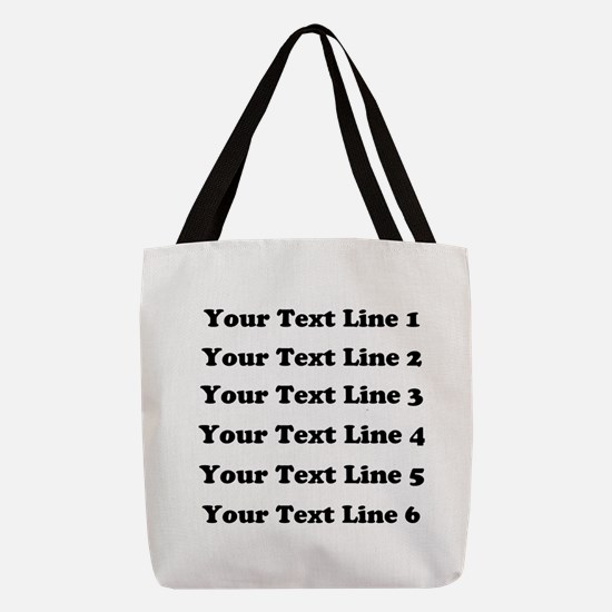 Customize Six Lines Text Polyester Tote Bag