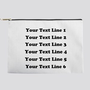 Customize Six Lines Text Makeup Pouch