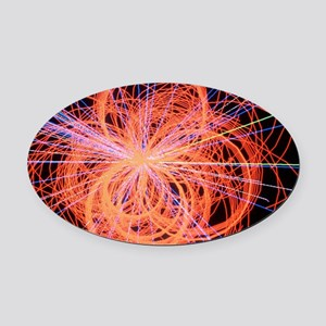 Simulation of Higgs boson producti Oval Car Magnet