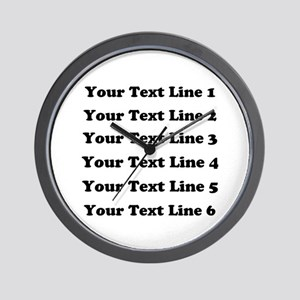 Customize Six Lines Text Wall Clock