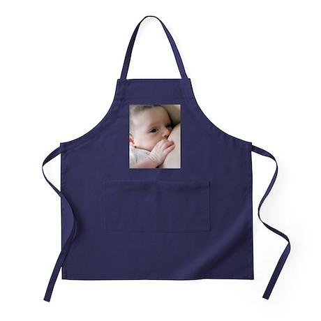 Six week old baby girl breastfeeding Apron (dark)