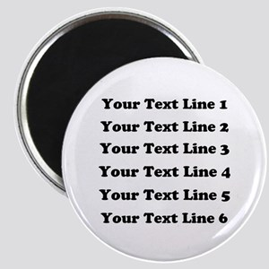 Customize Six Lines Text Magnet