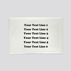 Customize Six Lines Text Rectangle Magnet