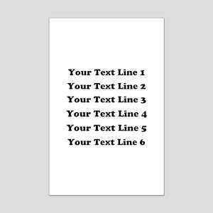 Customize Six Lines Text Mini Poster Print