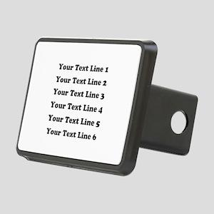 Customize Six Lines Text Rectangular Hitch Cover