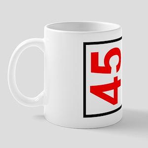 45 Autocross Number Plates Mug