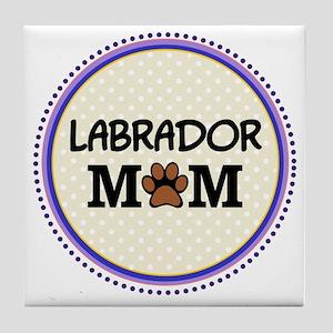 Labrador Dog Mom Tile Coaster