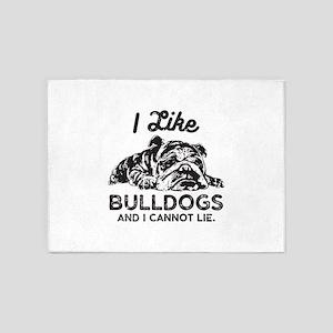 I Like Bulldogs 5'x7'Area Rug