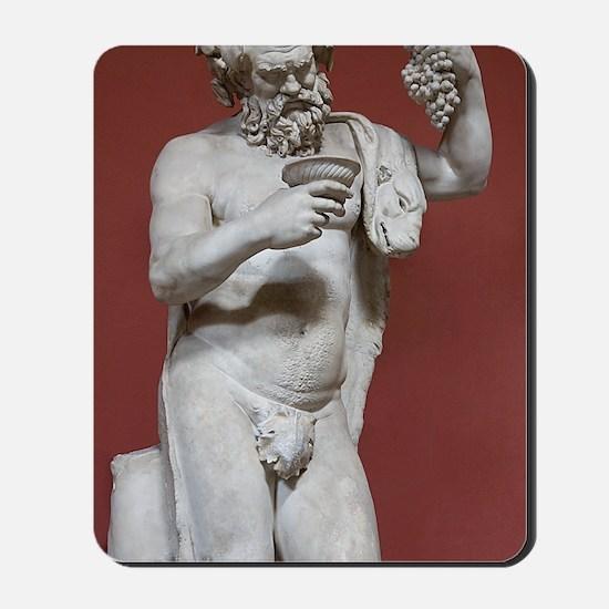 Silenus, Roman god of wine Mousepad