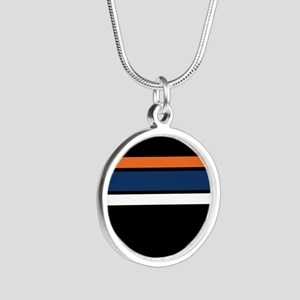 Team Colors 2,,,Orange ,Blue and white Necklaces