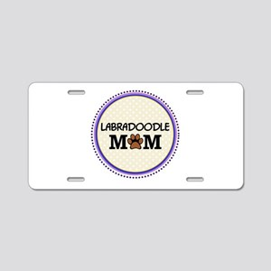 Labradoodle Dog Mom Aluminum License Plate