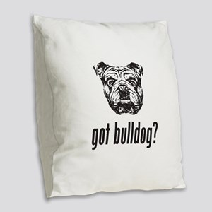 Got Bulldog? Burlap Throw Pillow