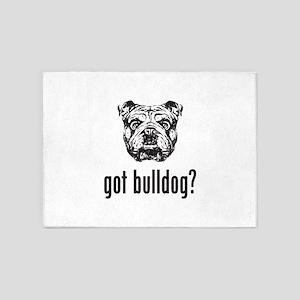 Got Bulldog? 5'x7'Area Rug