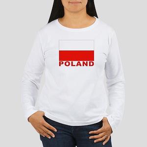 Poland Flag Women's Long Sleeve T-Shirt