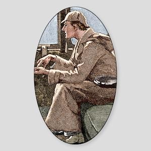 Sherlock Holmes Sticker (Oval)