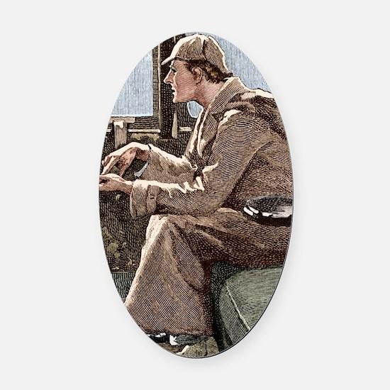 Sherlock Holmes Oval Car Magnet