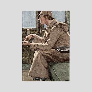 Sherlock Holmes Rectangle Magnet