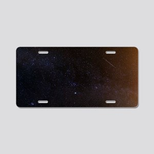 Shooting stars and a comet Aluminum License Plate