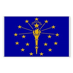 Indiana Flag Rectangle Decal