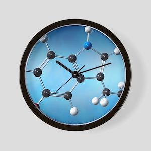 Serotonin neurotransmitter molecule Wall Clock