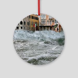 Severe storm, Venice, Italy Round Ornament