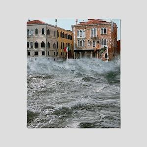 Severe storm, Venice, Italy Throw Blanket