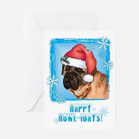 Holiday Mastiff Greeting Card