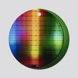 Semiconductor wafer Round Ornament