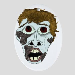 Zombie Guy Oval Ornament