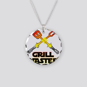 Grill Master Necklace Circle Charm
