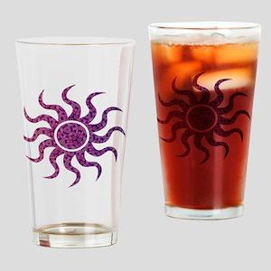 Designer Sun Drinking Glass